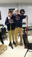 boys hockey team cleaning floors pic 2
