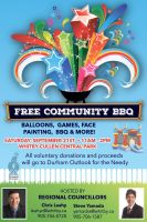 community bbq poster to support dofn sept 2019